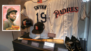 Tony Gwynn's exhibit at the Baseball Hall of Fame. Image via Wikimedia Commons