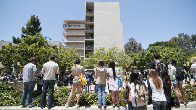 Students watch the watermelon drop in 2011. Photo courtesy UCSD