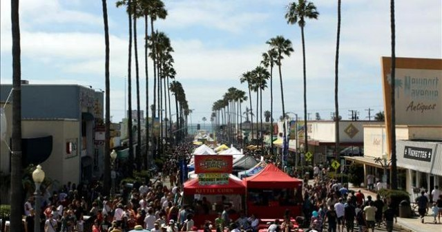 Ocean Beach, during the annual community street fair. The Coastal Commission has weighed in on a community plan update. Photo credit: blog.sandiego.org