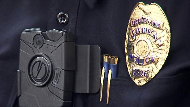 An officer's uniform police camera. Photo credit: 10News.com
