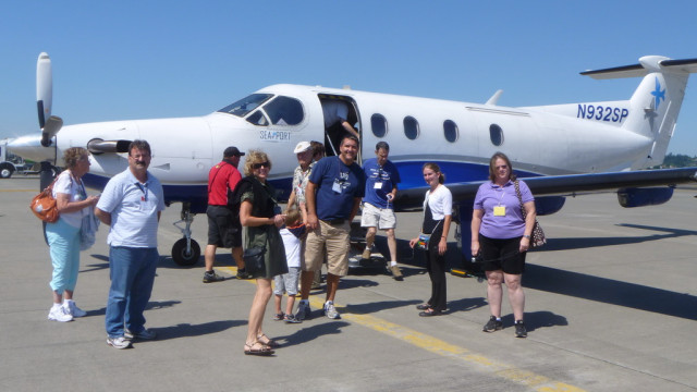 Passengers boarding a SeaPort Airlines flight. Photo credit: seaportair.com