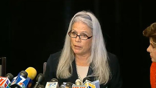 Irene McCormack Jackson, one year ago, as she accused former Mayor Bob Filner of harassment. Photo credit: CBS8.com