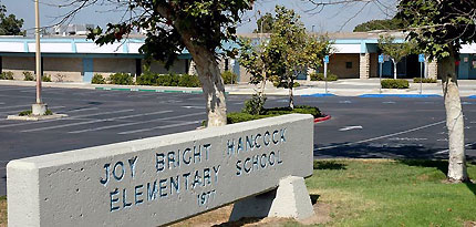 Hancock Elementary is one of two schools affiliated with Naval Base San Diego to receive major defense grants to benefit military children. Photo credit: sandi.net.