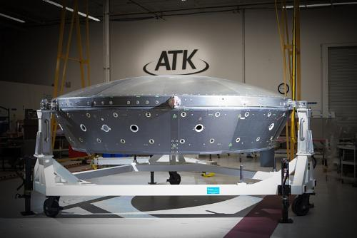 The Core Structure Assembly for NASA's Low-Density Supersonic Decelerator was manufactured by ATK Space Components in San Diego. Photo courtesy ATK