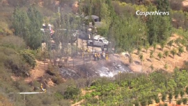 Three people were killed in a small plane crash in the Santa Ana Mountains. Photo courtesy of NBC News