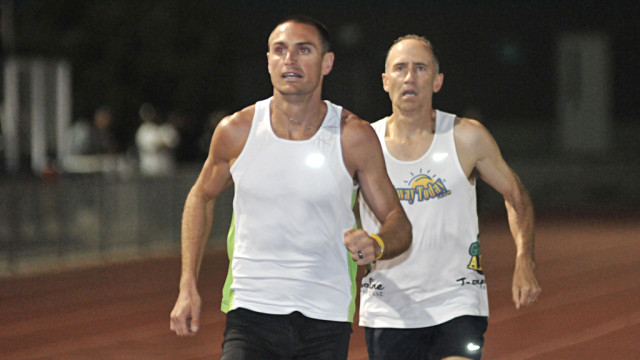 Darren Brown paced Brad Barton to a 2:08 half-mile.