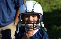 A young fan at Chargers training camp practice July 24, 2014. Photo credit: San Diego Chargers, via Twitter.