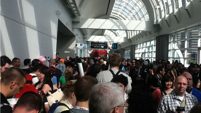 Crowds pack the San Diego Convention Center on the first day of Comic-Con in 2013. Photo by Luis Monteagudo Jr.