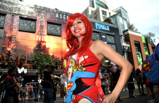 Traci Rodriguez of Garden Grove on Fifth Avenue in the Gaslamp Quarter amid 2014 Comic-Con.