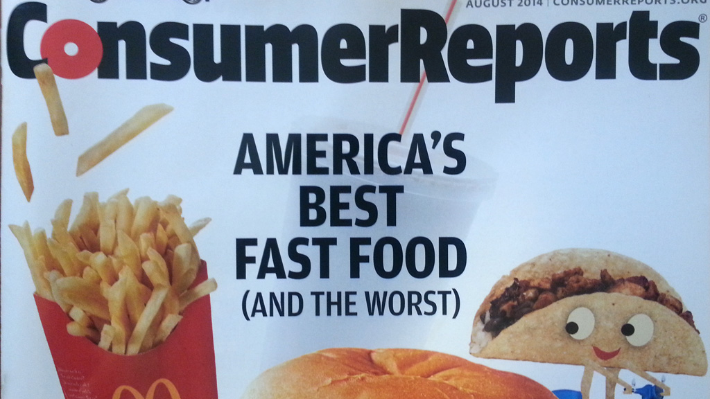 Cover of August 2014 issue of Consumer Reports.