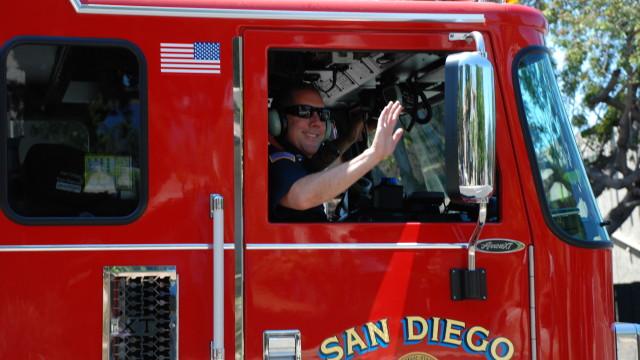 A San Diego Fire-Rescue truck.