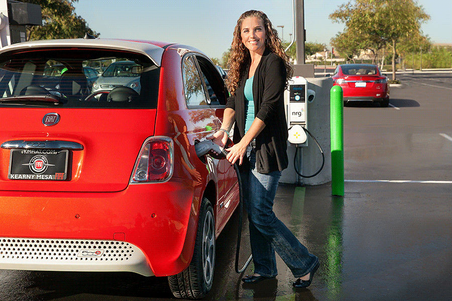 An NRG eVgo charging station in San Diego. Photo courtesy NRG