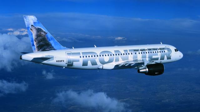 Frontier Airlines jetliner