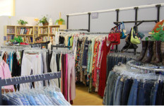 Clothing for sale at a Goodwill store. Photo courtesy Goodwill Industries of San Diego