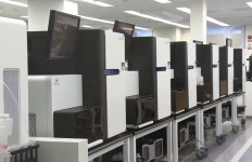 Gene-sequencing systems under development at Illumina. Photo from corporate video