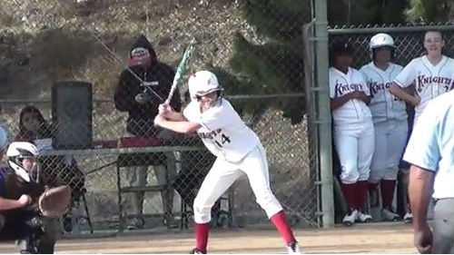 The San Diego City College women's softball team plays a game. Photo courtesy the college