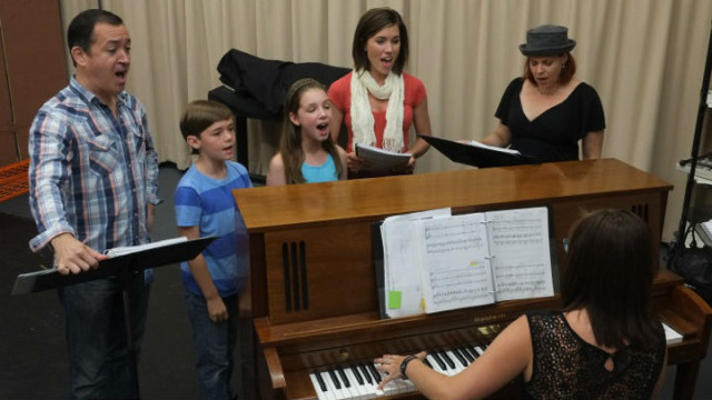 "A rehearsal for Moonlight Stage's ""Mary Poppins."""