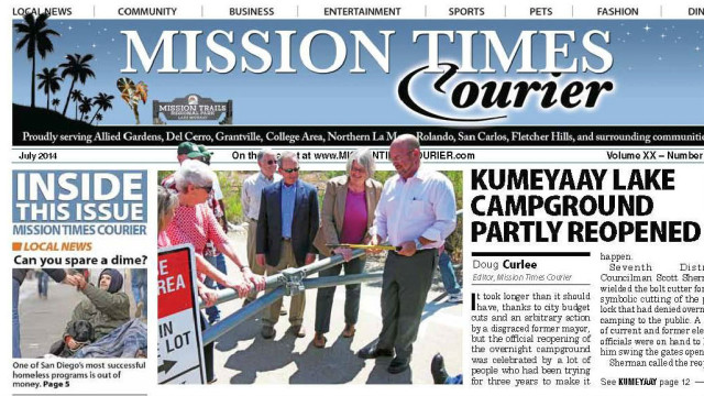 The July issue of the Mission Times Courier.