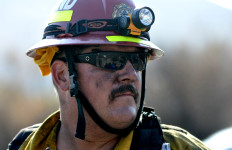 Firefighter at Mission Trails Regional Park.