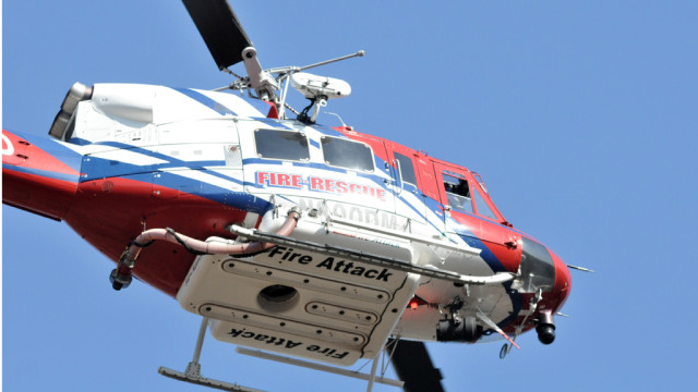 A San Diego Fire-Rescue helicopter. Photo Credit: SDFD