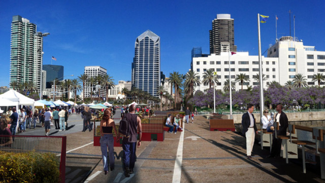 Rendering of the North Embarcadero project when completed. Image courtesy Port of San Diego