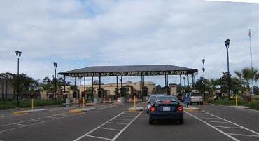 The main gate to NAS North Island on Coronado. Navy photo