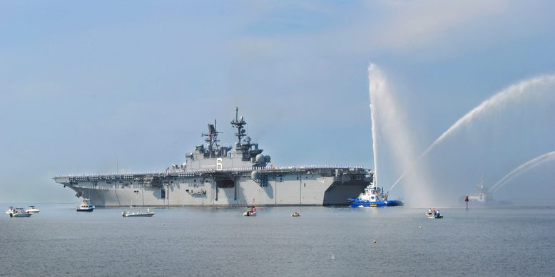 The USS America, set to arrive in San Diego after being commissioned in October. Photo credit: navy.mil