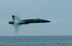F/A-18 Hornet flown by the Navy's Blue Angels. Photo credit: blueangels.navy.mil