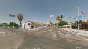 Cesar Chavez and National in Barrio Logan, site of July 14, 2014 hit-and-run accident. Photo credit: Google Street View.