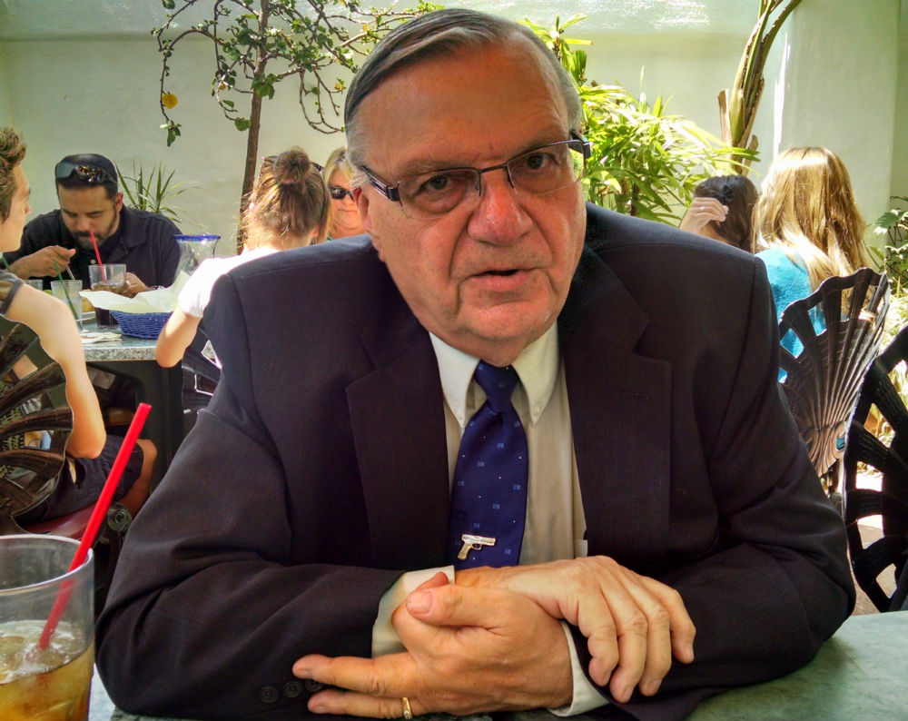 Sheriff JoeArpaio at Casa Guadalajara in Old Town. Photo by Chris Jennewein