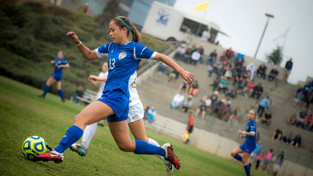 Soccer practice at UCSD. Photo courtesy the university