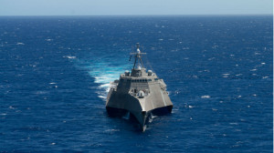 The littoral combat ship USS Independence in RIMPAC 2014. Navy photo