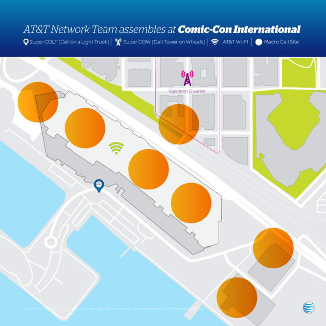 AT&T Comic-Con Plan