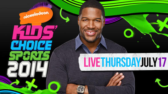 Michael Strahan is hosting the inaugural Kids' Choice Sports Award. Photo courtesy of Nickelodian