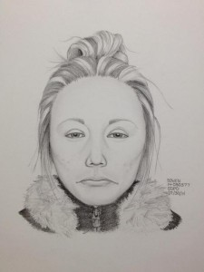 Rendering of suspect in Little Italy shooting of two women. Photo credit: San Diego Police Department
