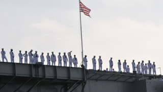 More than 6,000 Navy personnel departed Coronado on the USS Carl Vinson Friday morning.