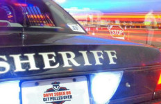 A San Diego Sheriff's cruiser at a drunk driving checkpoint. Photo courtesy sheriff
