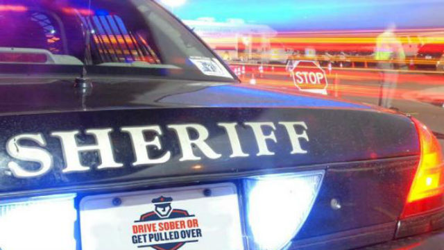A San Diego Sheriff's cruiser at a drunken driving checkpoint. Photo courtesy sheriff