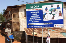 An Ebola warning sign in West Africa. Photo courtesy Centers for Disease Control