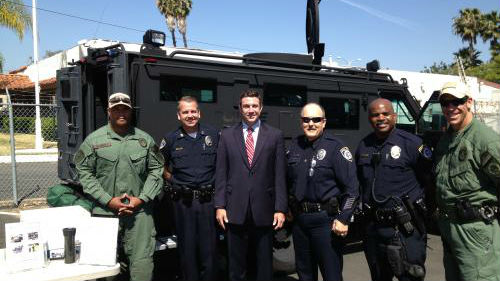 Rep. Duncan Hunter with the Escondido SWAT team. Photo courtesy Hunter's office