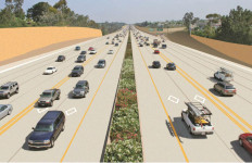 Rendering of the double express lanes planned for Interstate 5.  Courtesy SANDAG