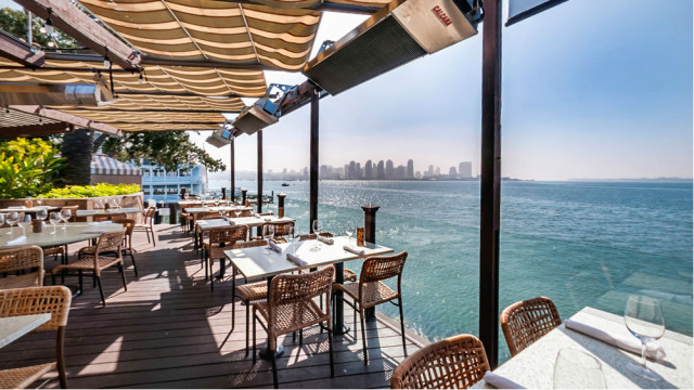 The view from the patio at Island Prime restaurant. Photo courtesy the restaurant