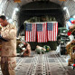 Soldiers wounded in Iraq on a flight to Germany. Air Force photo