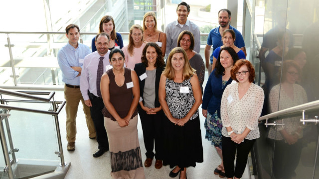 Mesa College's 14 new faculty members participate in orientation activities prior to the start of the fall semester. Photo courtesy San Diego Community College District