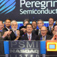 Peregrine Semiconductor executives at the opening of trading of the stock on NASDAQ in 2012. Courtesy NASDAQ