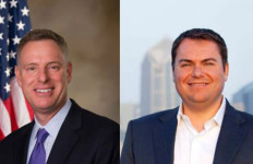 Congressional candidates Scott Peters, left, and Carl DeMaio.