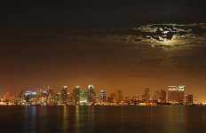 "A full moon over San Diego in 2005. Photo by Ted ""Rufus"" Ross via Wikimedia Commons"