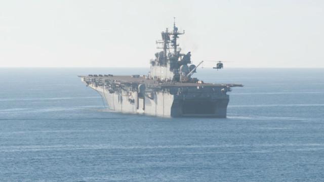 The amphibious assault ship USS Makin Island. Navy photo