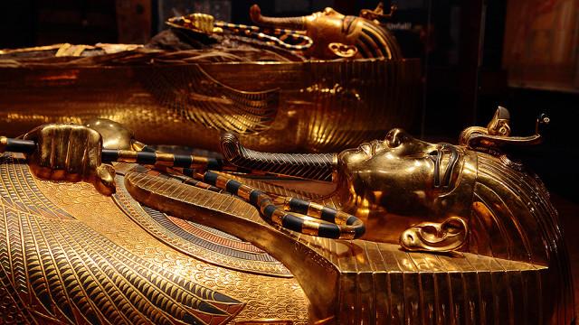 King tut golden mummy cases