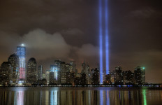 The light beams in New York that remind the city and the country of what was lost in 2001 when terrorists attacked the World Trade Center. Photo credit: Via Flickr.com
